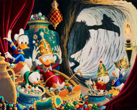 Carl Barks In the Cave of Ali Baba Gold Plate Limited Edition Lithograph #91/100(Another Rainbow, 1997)