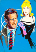Movie Posters:Comedy, A New Kind of Love by Ercole Brini (Paramount, 1963). Fine/Very Fine. Signed Original Mixed Media Artwork on Illustration Bo...