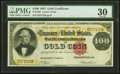 Large Size:Gold Certificates, Fr. 1207 $100 1882 Gold Certificate PMG Very Fine 30.. ...