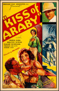 "Movie Posters:Adventure, Kiss of Araby (Monarch, 1933). Fine on Linen. One Sheet (27"" X41.25""). Adventure.. ..."