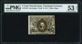 Fractional Currency:Second Issue, Fr. 1235 5¢ Second Issue PMG About Uncirculated 53 Net.. ...