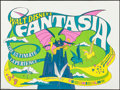 "Movie Posters:Animation, Fantasia (Walt Disney Productions, R-1970). Folded, Very Fine+. British Quad (30"" X 40""). Animation.. ..."