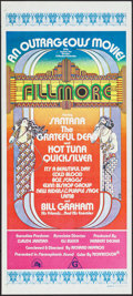 "Movie Posters:Rock and Roll, Fillmore (20th Century Fox, 1972). Folded, Near Mint. AustralianDaybill (13.25"" X 30""). David Byrd Artwork. Rock and Roll...."