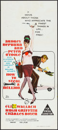 """Movie Posters:Crime, How to Steal a Million (20th Century Fox, 1966). Folded, Very Fine.Australian Daybill (13.25"""" X 30""""). Crime.. ..."""