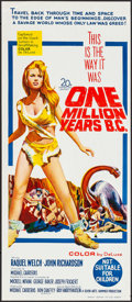 "Movie Posters:Fantasy, One Million Years B.C. (20th Century Fox, 1966). Folded, Very Fine/Near Mint. Australian Daybill (13"" X 30"") & Uncut Pressbo... (Total: 2 Items)"