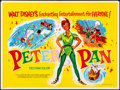 "Movie Posters:Animation, Peter Pan & Other Lot (Walt Disney Productions, 1965). Folded, Very Fine. British Quads (2) (30"" X 40""). Animation.. ... (Total: 2 Items)"