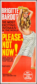 """Movie Posters:Foreign, Please, Not Now! (20th Century Fox, 1963). Folded, Near Mint.Australian Daybill (13"""" X 30""""). Foreign.. ..."""