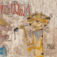 Greg Haberny (American, b. 1975) Vietnam 1966, 2009 Mixed media on panel 48-1/2 x 49 inches (123