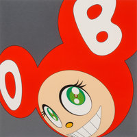 Takashi Murakami (Japanese, b. 1962) And then and then and then and then and then (Red), 1999 Silksc