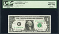 Error Notes:Mismatched Serial Numbers, Mismatched Serial Numbers Error Fr. 1930-B $1 2003A Federal Reserve Note. PCGS Superb Gem New 68PPQ.. ...