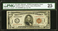 Fr. 2301* $5 1934 Mule Hawaii Federal Reserve Note. PMG Very Fine 25