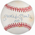 "Autographs:Baseballs, Mickey Mantle ""No. 7"" Single Signed Baseball...."