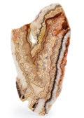 Lapidary Art:Carvings, Laguna Lace Agate. Mexico. 8.86 x 4.72 x 0.18 inches (22.50 x 12.00 x 0.46 cm). ...