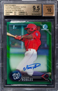 Baseball Cards:Singles (1970-Now), 2016 Bowman Chrome Victor Robles Green Refractor Autograph 36/99 #CPAVR BGS Gem Mint 9.5 - 10 Autograph. ...