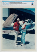 Explorers:Space Exploration, Armstrong Family Personal: Photograph of Neil and Janet Armstrong Posed with Beechcraft Model 35 V-Tail Bonanza, circa...