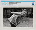 Explorers:Space Exploration, Armstrong Family Personal: World Book Encyclopedia Photograph of Neil Armstrong Playing Frisbee, 1967, Directly From The A...