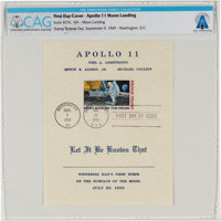 "Apollo 11: ""First Man On The Moon"" First Day Cover Directly From The Armstrong Family Collection™, CAG Certifi..."
