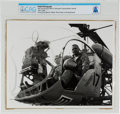 Explorers:Space Exploration, NASA Photograph of Neil Armstrong in Bell 47 Helicopter Training before Takeoff, circa 1967-1968, Directly Fro...