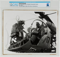 NASA Photograph of Neil Armstrong in Bell 47 Helicopter Training before Takeoff, circa 1967-