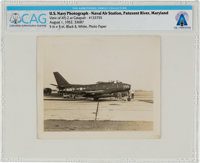 U.S. Navy Photograph at Naval Air Station, Patuxent River, Maryland, Directly From The Armstrong Family Collection™, CAG...