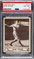 "Baseball Cards:Singles (1940-1949), 1940 Play Ball ""Babe"" Young #212 PSA NM-MT 8 - Pop Two, None Higher...."