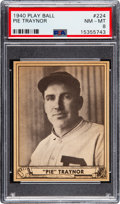 Baseball Cards:Singles (1940-1949), 1940 Play Ball Pie Traynor #224 PSA NM-MT 8 - None Higher. ...