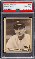 Baseball Cards:Singles (1940-1949), 1940 Play Ball Sammy West #22 PSA NM-MT 8 - Pop Three, None Higher. ...