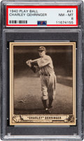 Baseball Cards:Singles (1940-1949), 1940 Play Ball Charley Gehringer #41 PSA NM-MT 8 - One Higher. ...