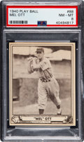 Baseball Cards:Singles (1940-1949), 1940 Play Ball Mel Ott #88 PSA NM-MT 8 - Only Two Higher.