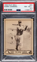 Baseball Cards:Singles (1940-1949), 1940 Play Ball Harry Danning #93 PSA NM-MT+ 8.5 - Pop Two,...