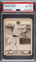 Baseball Cards:Singles (1940-1949), 1940 Play Ball Johnny Rizzo #108 PSA NM-MT 8 - Pop Two, None Higher....