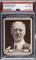Baseball Cards:Singles (1940-1949), 1940 Play Ball Connie Mack #132 PSA NM-MT 8 - Only One Higher....