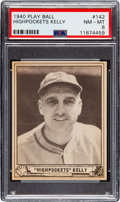 Baseball Cards:Singles (1940-1949), 1940 Play Ball George Kelly #142 PSA NM-MT 8 - None Higher. ...