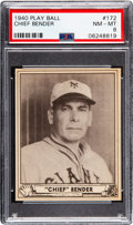 Baseball Cards:Singles (1940-1949), 1940 Play Ball Chief Bender #172 PSA NM-MT 8 - One Higher. ...