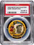 Baseball Cards:Singles (Pre-1930), 1909 Morton's Buster Brown Pin Sam Crawford PSA EX-MT 6 - The Only PSA Example! ...