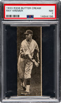 Baseball Cards:Singles (1930-1939), 1933 Butter Cream Ray Kremer PSA NM 7 - Pop One, None Higher! ...