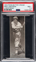 Baseball Cards:Singles (1930-1939), 1933 Butter Cream Fred Lindstrom PSA NM+7.5 - Pop One, None Higher!...