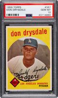 Baseball Cards:Singles (1950-1959), 1959 Topps Don Drysdale #387 PSA Gem Mint 10. What...