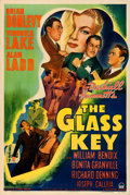"Movie Posters:Film Noir, The Glass Key (Paramount, 1942). Very Fine- on Linen. One Sheet(27.5"" X 41"").. ..."