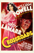 """Movie Posters:Mystery, Crossroads (MGM, 1942). Fine on Linen. One Sheet (27"""" X 41"""") StyleD.. ..."""