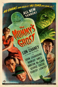 """The Mummy's Ghost (Universal, 1944). Fine/Very Fine on Linen. One Sheet (27.25"""" X 40.75"""")"""