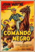 """Movie Posters:Western, The Dark Command (Republic, 1942). Folded, Fine/Very Fine.Argentinean One Sheet (29.25"""" X 43"""") & Matted Photo (11"""" X14""""). ... (Total: 2 Items)"""