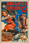 """Movie Posters:Serial, Daughter of Don Q (Republic, 1946). Fine+ on Linen. Stock One Sheet (27"""" X 41""""). Serial.. ..."""