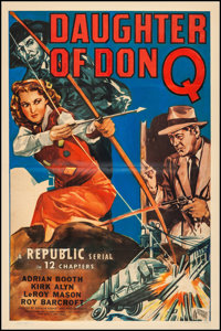 "Daughter of Don Q (Republic, 1946). Fine+ on Linen. One Sheet (27"" X 41""). Serial"