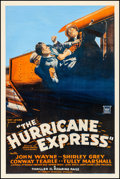 """Movie Posters:Serial, The Hurricane Express (Mascot, 1932). Fine/Very Fine on Linen. One Sheet (27.25"""" X 41""""). Serial.. ..."""