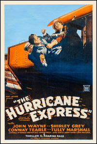 "The Hurricane Express (Mascot, 1932). Fine/Very Fine on Linen. One Sheet (27.25"" X 41""). Serial"