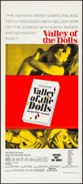 "Movie Posters:Exploitation, Valley of the Dolls (20th Century Fox, 1968). Folded, VeryFine/Near Mint. Australian Daybill (13.25"" X 30"") Red Style.Expl..."