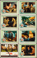 """Movie Posters:War, The Young Lions (20th Century Fox, 1958). Fine/Very Fine. LobbyCard Set of 8 (11"""" X 14""""). War.. ... (Total: 8 Items)"""