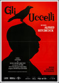 "Movie Posters:Hitchcock, The Birds (Cineteca Bologna, R-2018). Folded, Very Fine+. Italian 2- Fogli (39.5"" X 55""). Hitchcock.. ..."