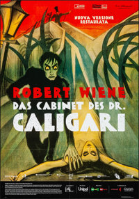 "The Cabinet of Dr. Caligari (Cineteca Bologna, R-2014). Folded, Very Fine+. Italian 2 - Fogli (38.25"" X 55"")..."